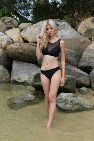 MESH IT SPORTY BIKINI SET (BLACK)