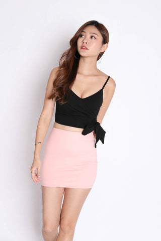 CLASSIC MINI BODYCON SKIRT IN PINK