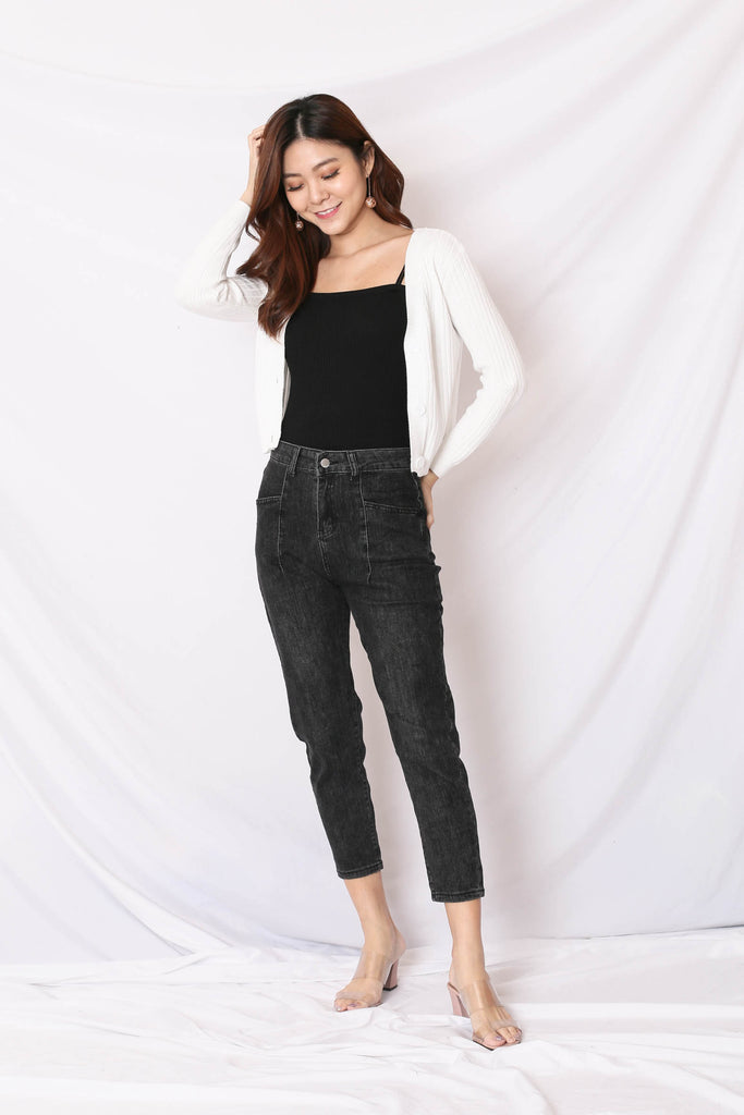 SADE DENIM JEANS IN BLACK WASH