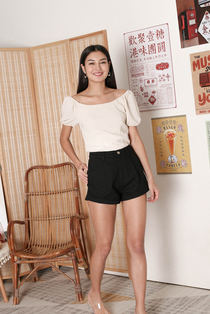 *TPZ* AGNES 2 WAY TOP IN IVORY