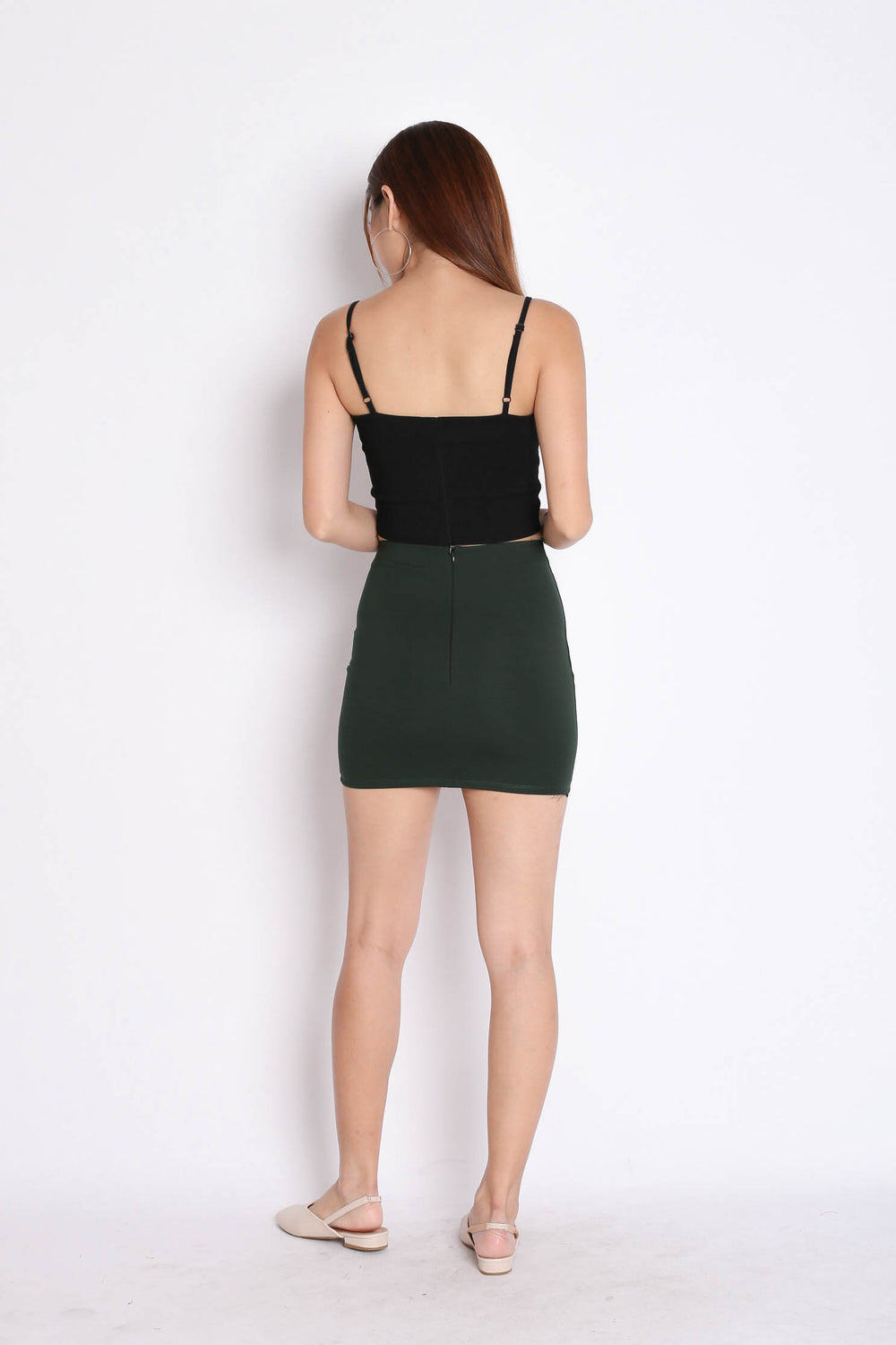 CLASSIC MINI BODYCON SKIRT IN FOREST - TOPAZETTE