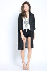 ARIZONA OUTERWEAR IN BLACK - TOPAZETTE