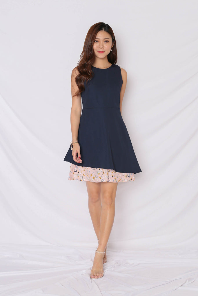 *TPZ* (PREMIUM) EYNNA DRESS IN NAVY