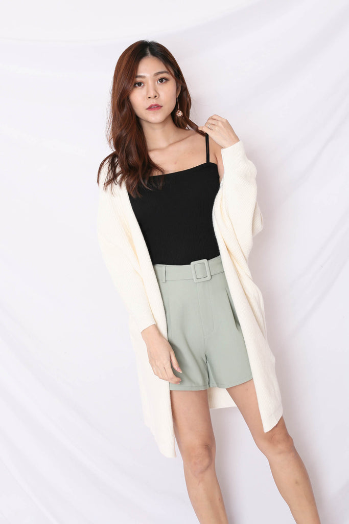 BEA COSY SOFT KNIT CARDIGAN IN CREAM