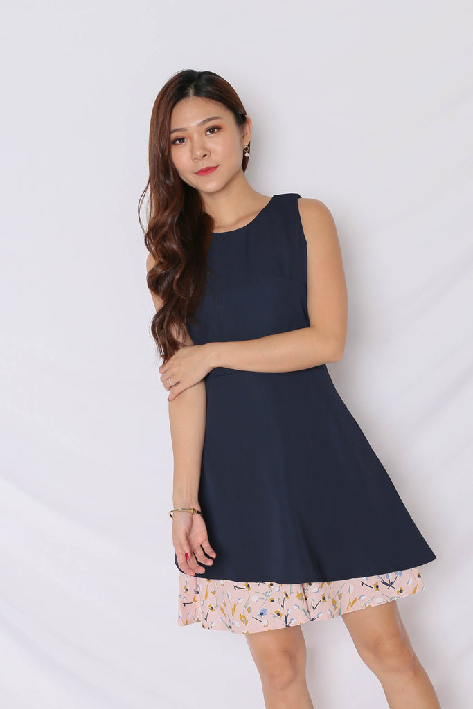 *TPZ* (PREMIUM) EYNNA DRESS IN NAVY - TOPAZETTE