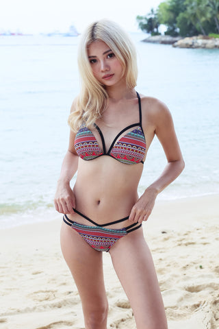 BOARDWALK STRAPPY BIKINI SET (PAISLEY A)