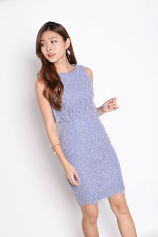 *TPZ* (PREMIUM) RELLA LACE TIERED DRESS IN PERIWINKLE