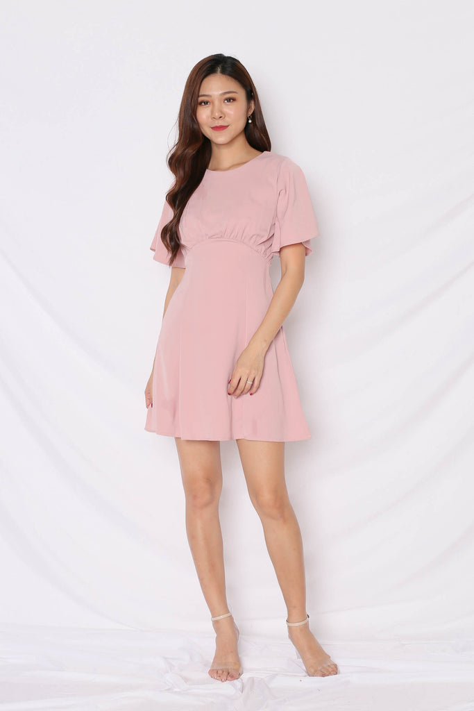 *TPZ* (PREMIUM) SHAY DRESS IN DUSTY PINK - TOPAZETTE