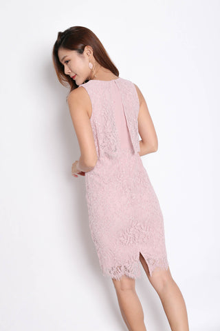 *TPZ* (PREMIUM) RELLA LACE TIERED DRESS IN DUSTY PINK