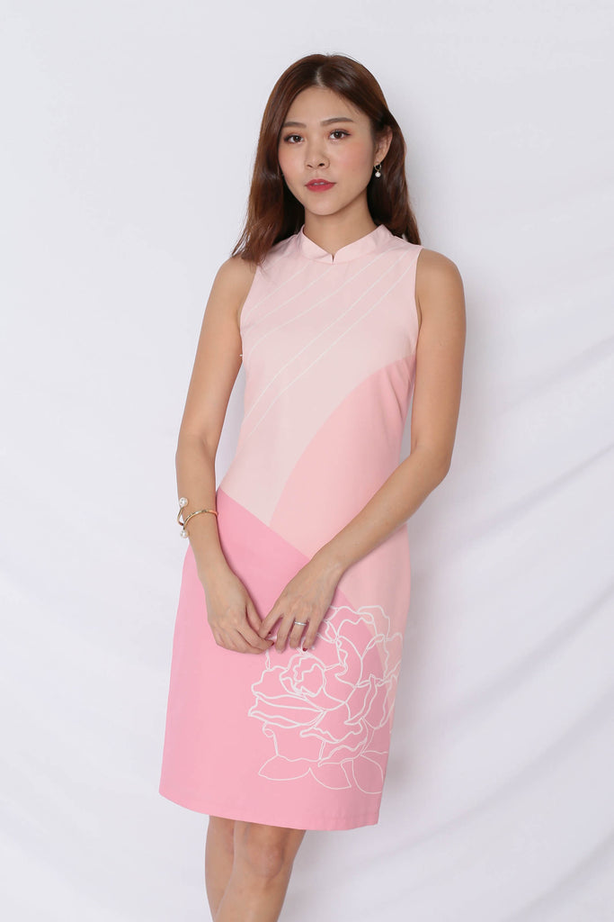 (PREMIUM) REUNION CHEONG SAM IN PINK
