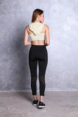 MESH CUT OUT ACTIVE TIGHTS IN BLACK