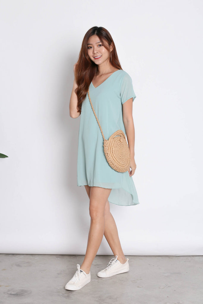 SHASTA DRESS IN TURQUOISE - TOPAZETTE