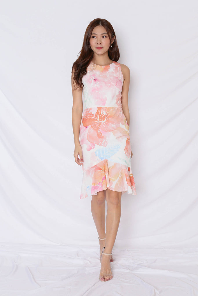 (PREMIUM) SPRING BLOOM MERMAID DRESS - TOPAZETTE