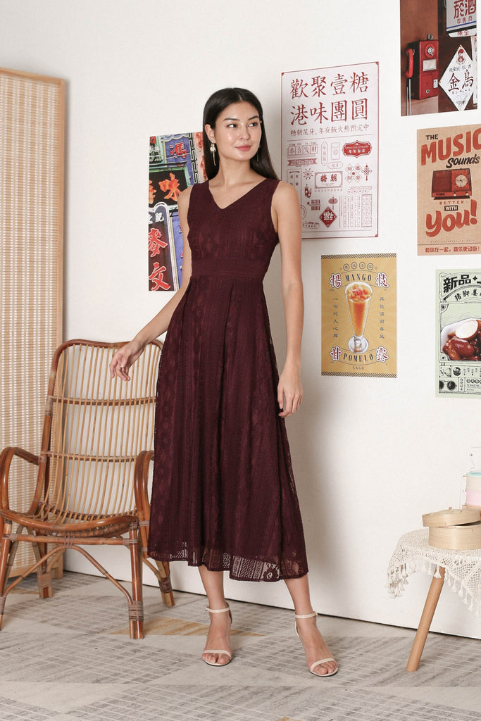 *TPZ* QIANA LACE MAXI IN PLUM