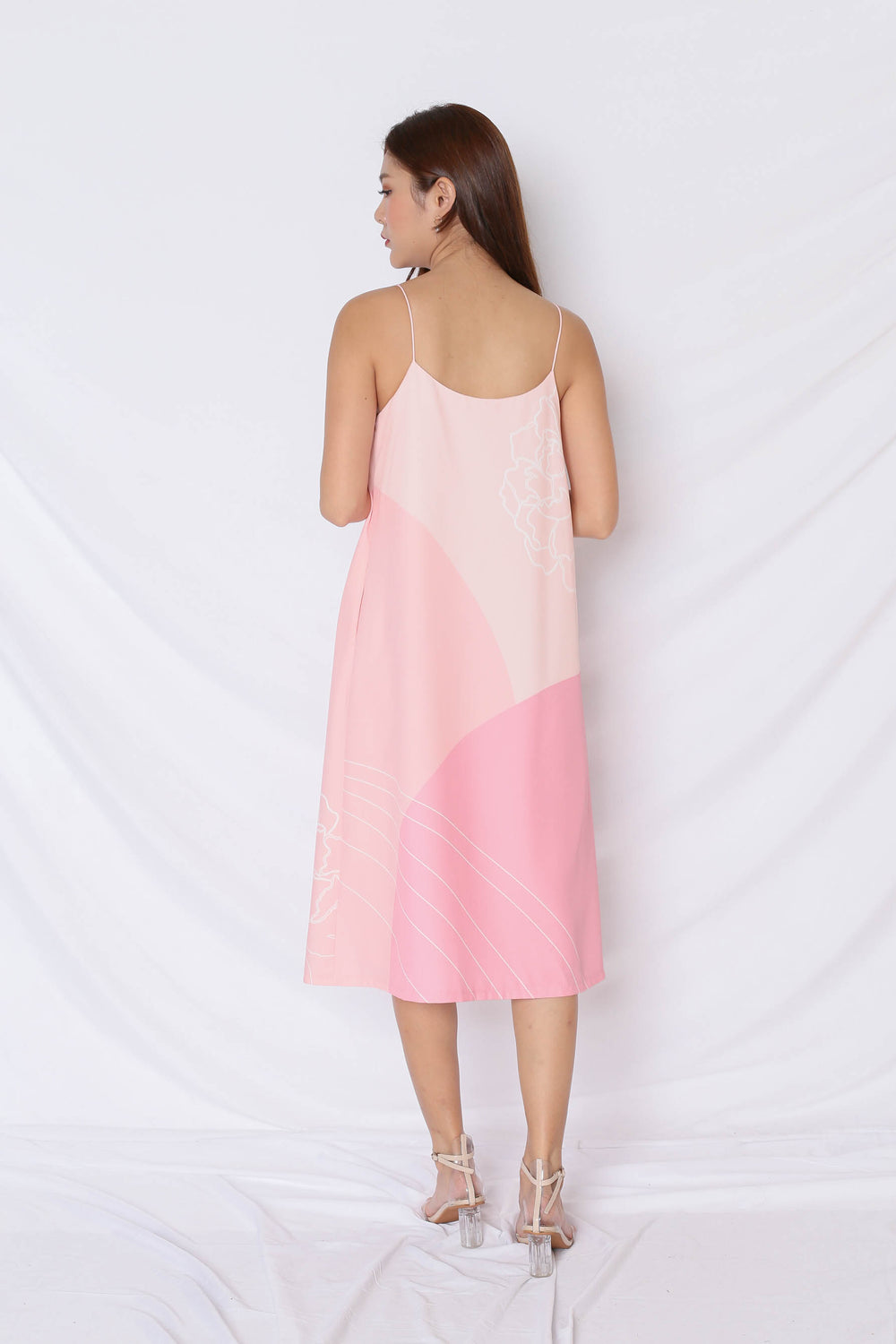 (PREMIUM) REUNION SPAG TENT DRESS IN PINK