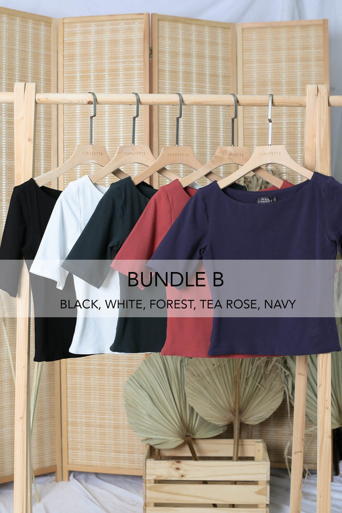 NERVANA SLEEVED BASIC TOP (BUNDLE B)