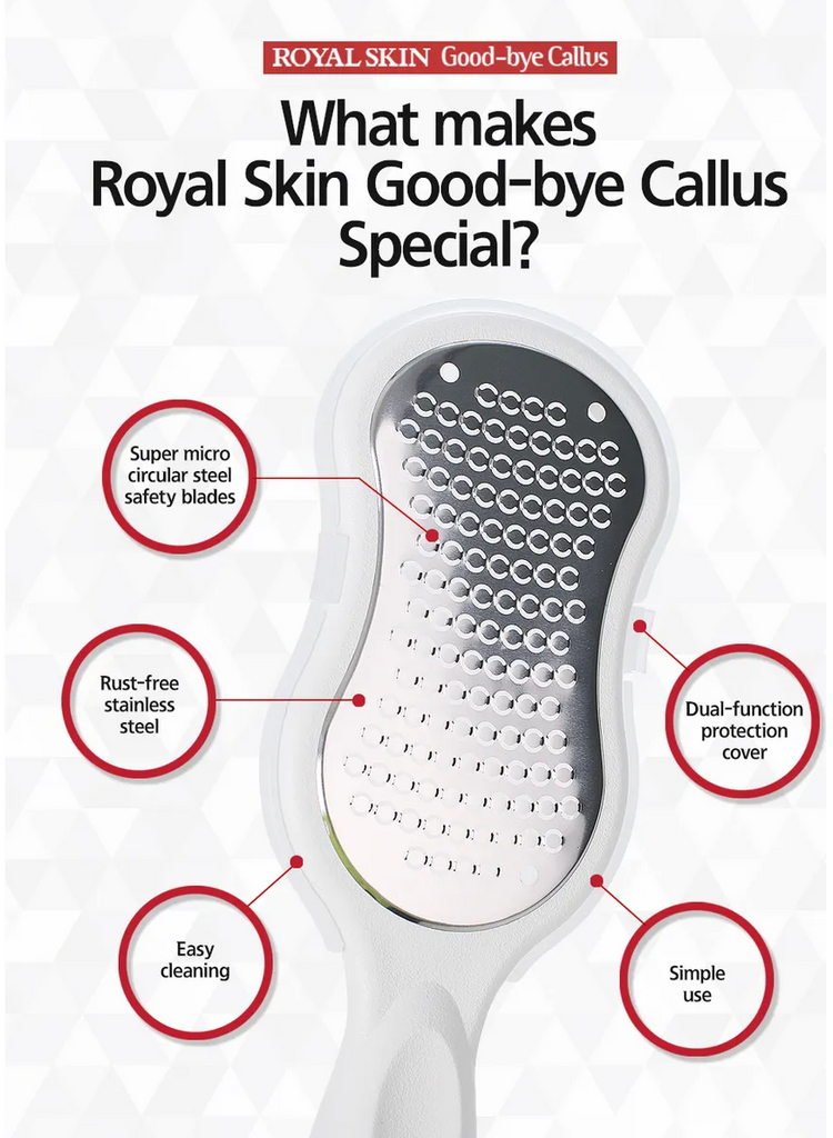 *READY STOCK* ROYAL SKIN GOODBYE CALLUS FOOT FILE + BEPURE MIRACLE HEEL BALM
