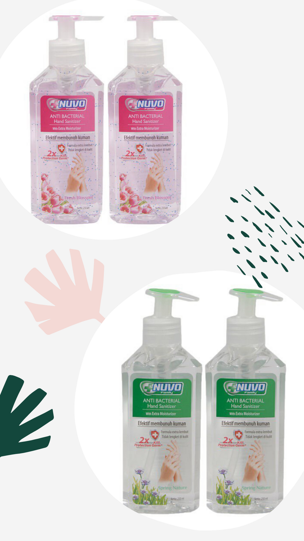 *READY STOCK* NUVO ANTI BACTERIAL HAND SANITIZER (250ML)