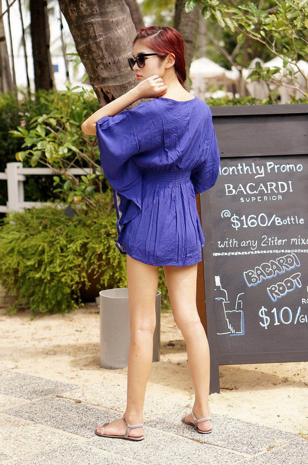 LEXI BOHO TUNIC IN ROYAL BLUE