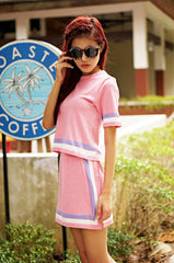 SAILORETTE 2PC KNITTED SET IN PASTEL PINK