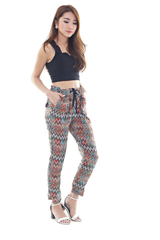 *RESTOCKED* ZIG ZAG AZTEC SLACK PANTS IN ORANGE