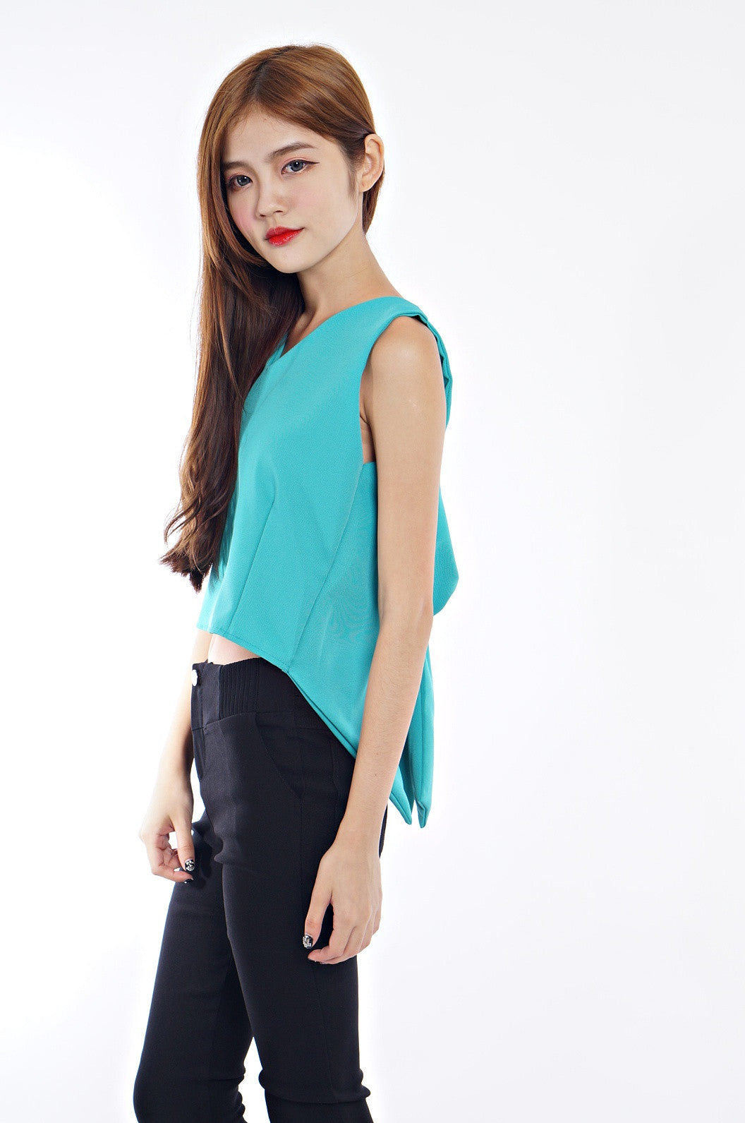 BOW WOW TOP IN TEAL - TOPAZETTE