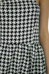 HOUNDSTOOTH BUSTIER DRESS - TOPAZETTE