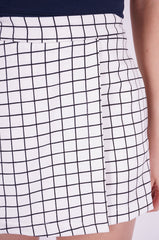 GRID SKORTS IN WHITE
