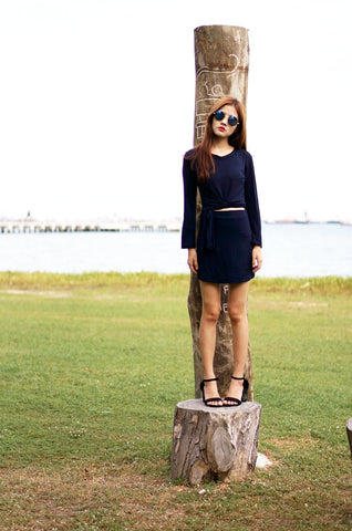 LESS IS MORE 2PC SET IN NAVY