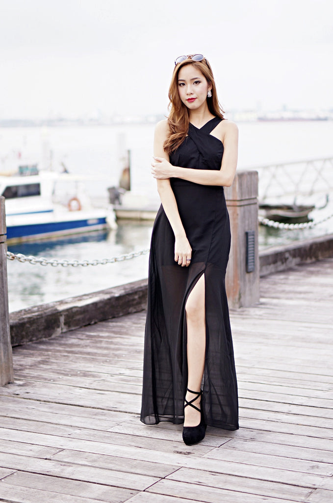 (PREMIUM) ACROSS THE BORDERS MAXI IN BLACK (RESTOCKED) - TOPAZETTE