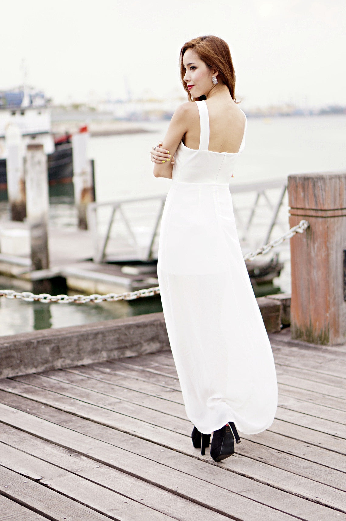 (PREMIUM) ACROSS THE BORDERS MAXI IN WHITE (RESTOCKED) - TOPAZETTE