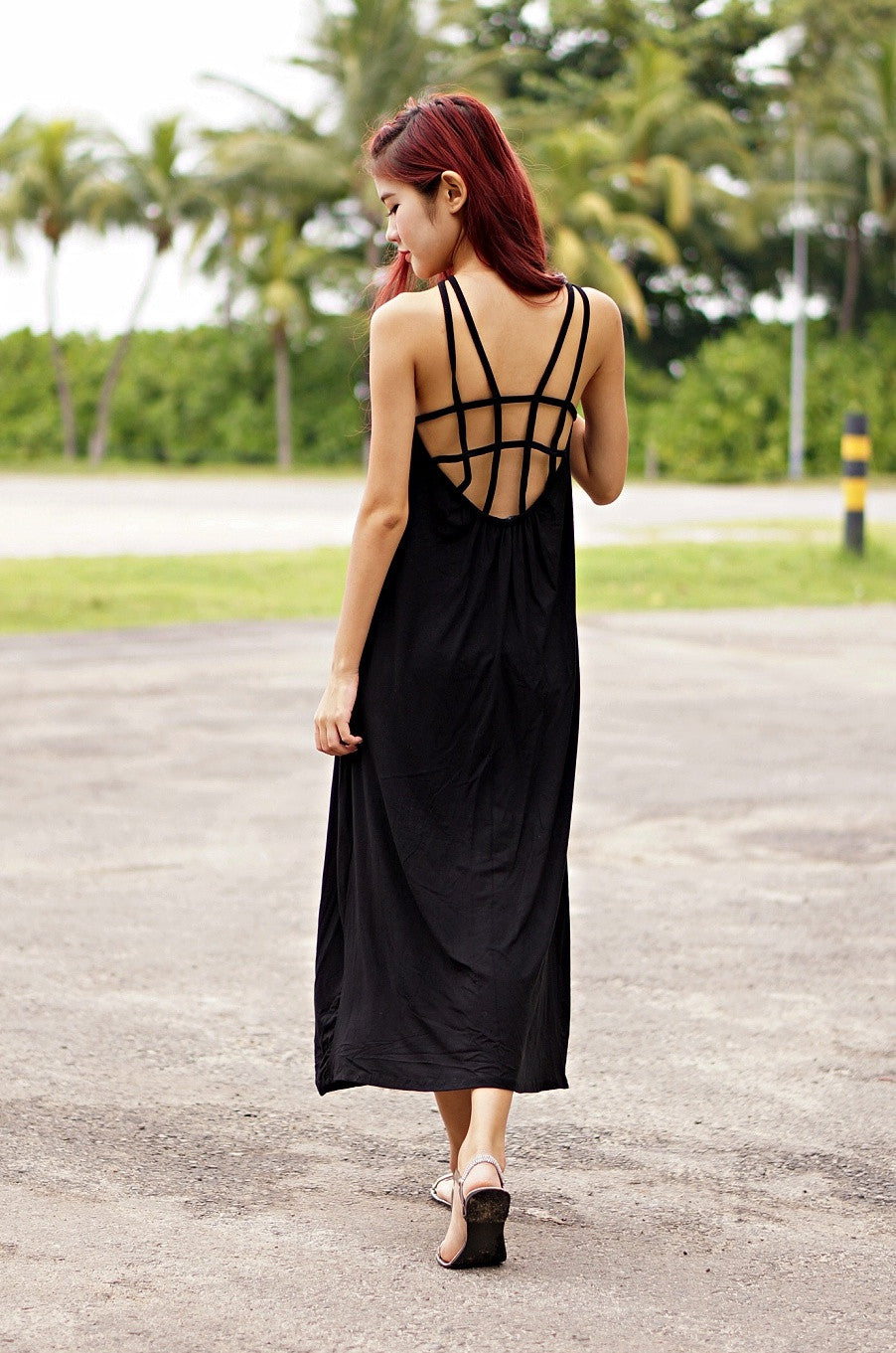 CAGED BACK MAXI - TOPAZETTE