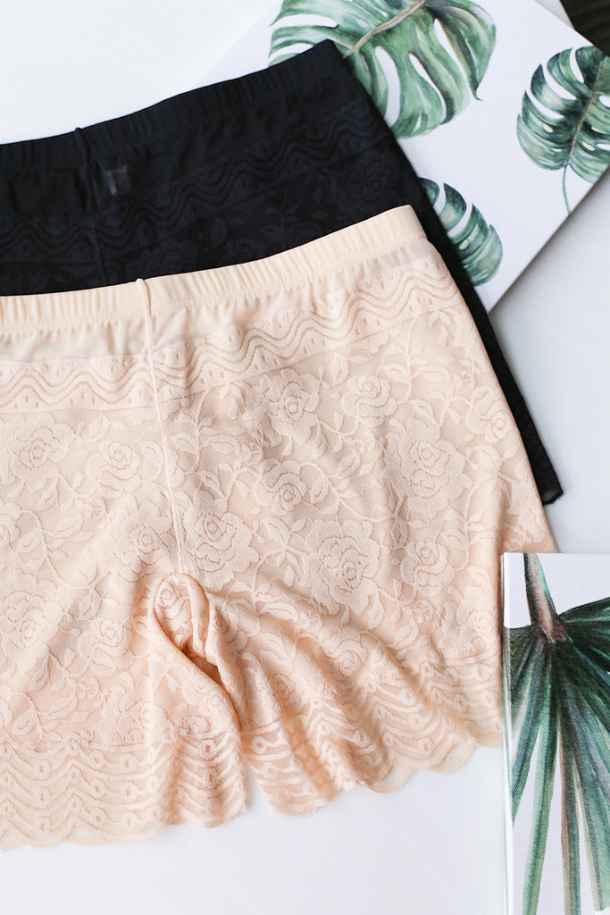 *RESTOCKED* LACE SAFETY SHORTS