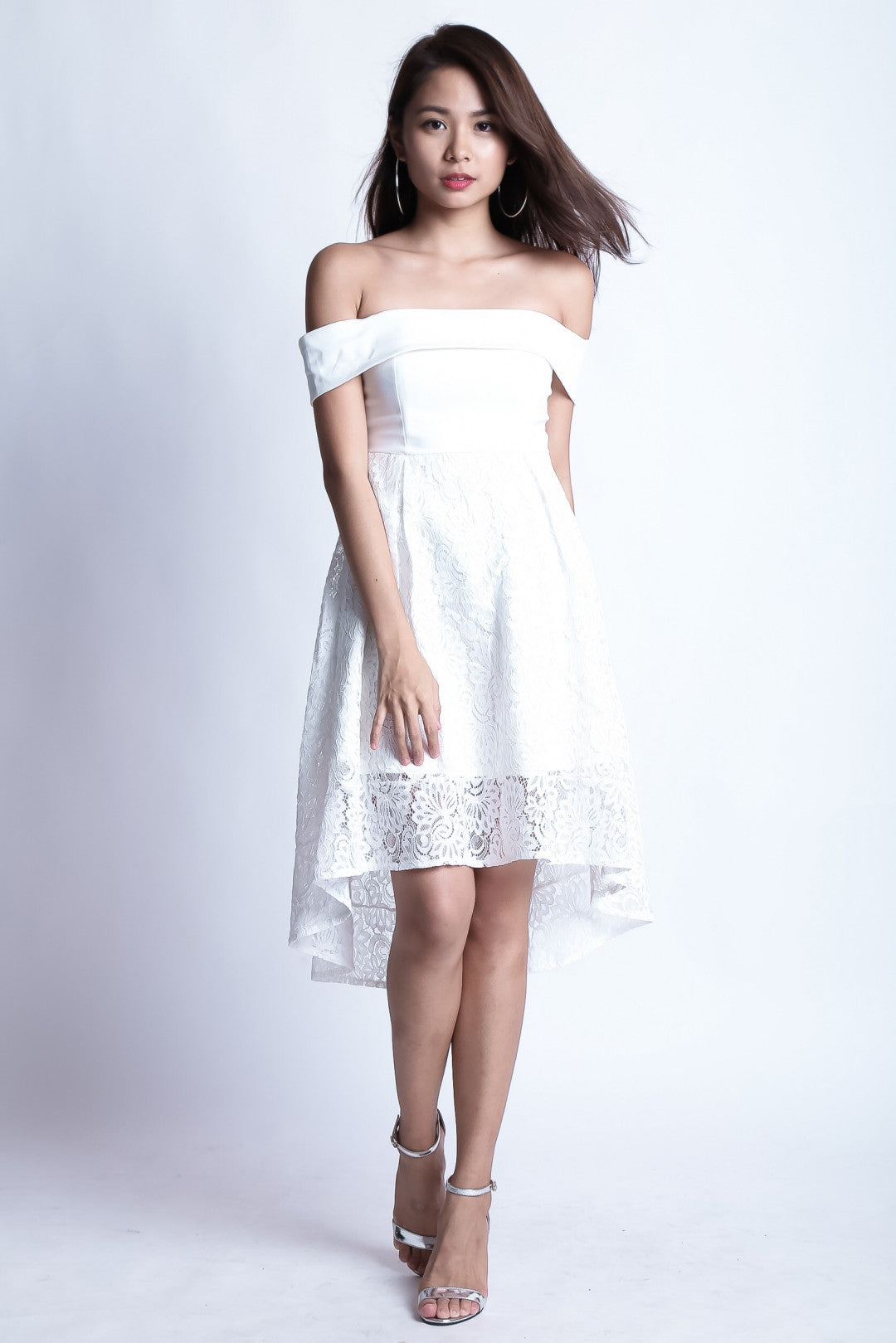 *TOPAZ* (PREMIUM) ALYSSA LACE DRESS IN WHITE - TOPAZETTE