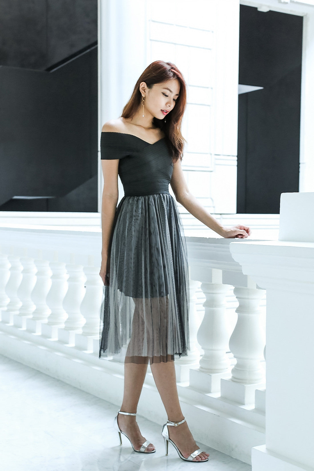 (PREMIUM) BALLERINA TULLE DRESS IN BLACK - TOPAZETTE
