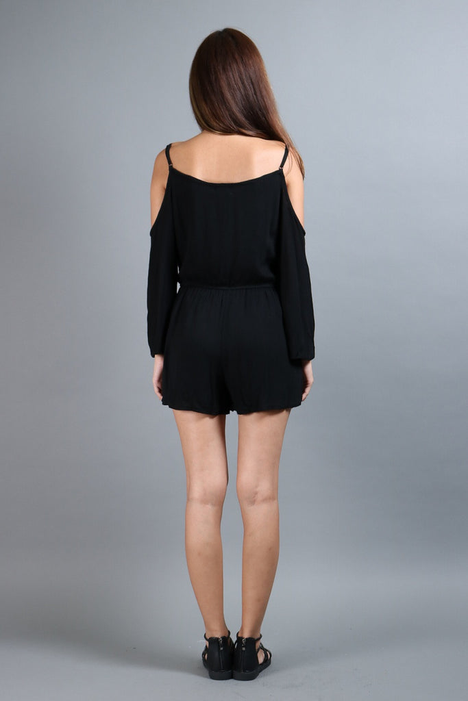 *RESTOCKED* #MADEBYTPZ DOWNTOWN BOHO ROMPER IN BLACK - TOPAZETTE