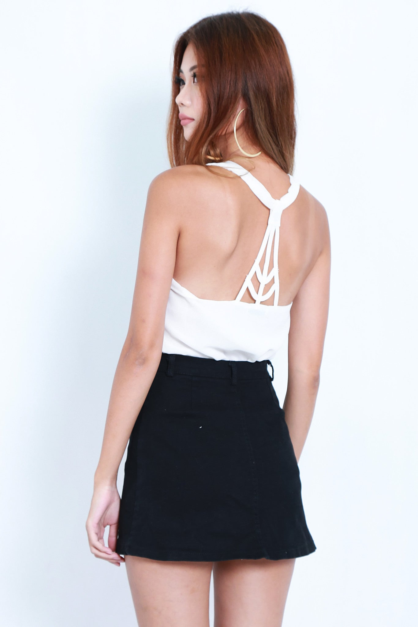 *TOPAZ* ALL IN THE DETAILS TOP IN WHITE - TOPAZETTE
