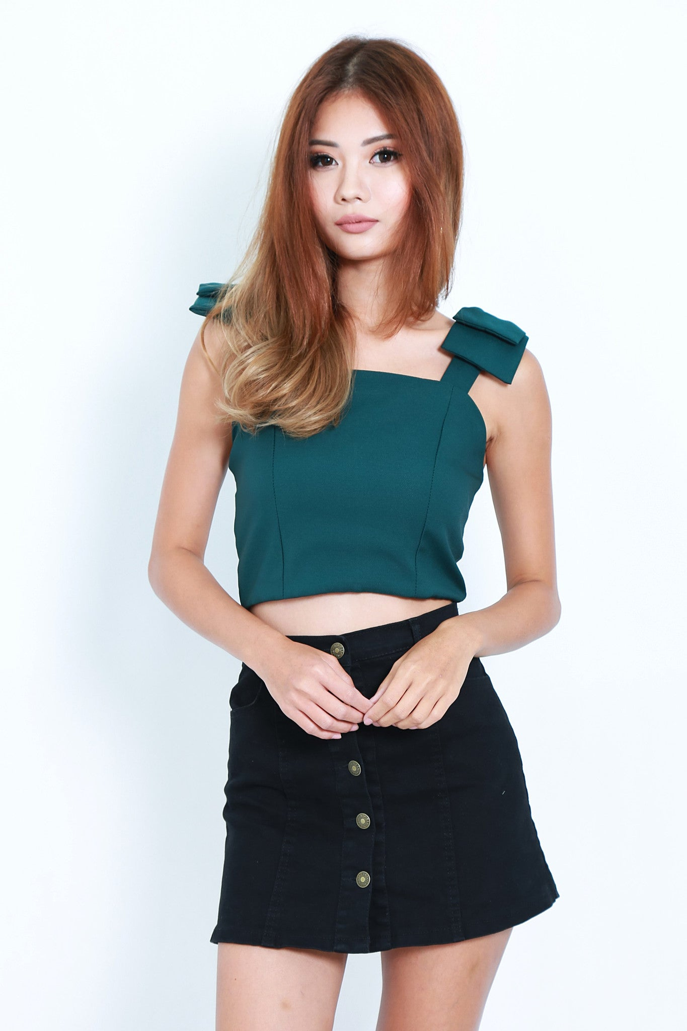 RIBBON CROP TOP IN FOREST