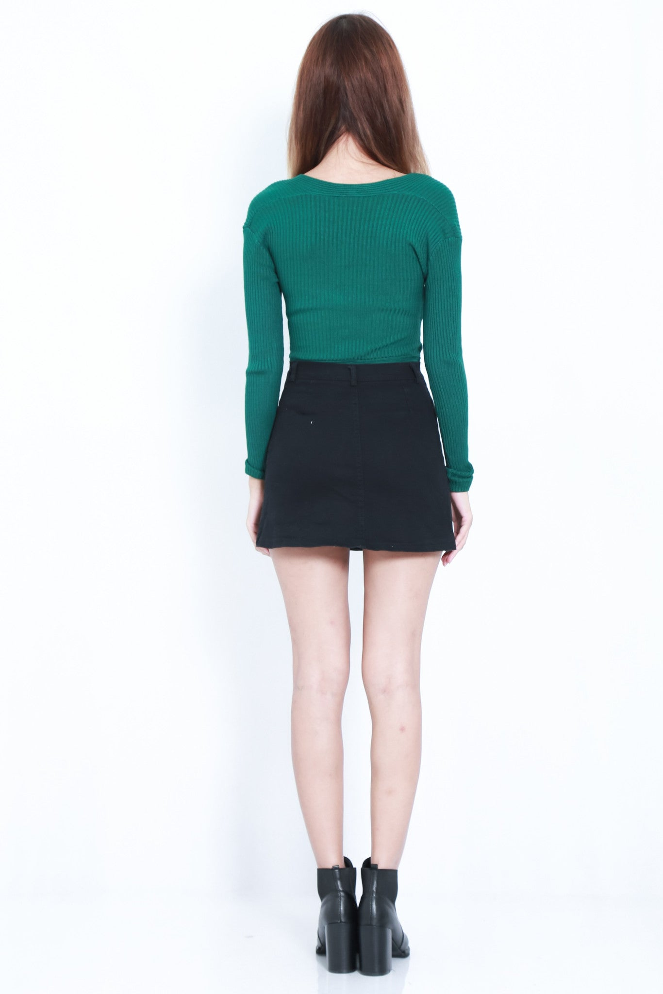 *RESTOCKED* WRAP RIBBED KNIT TOP IN FOREST