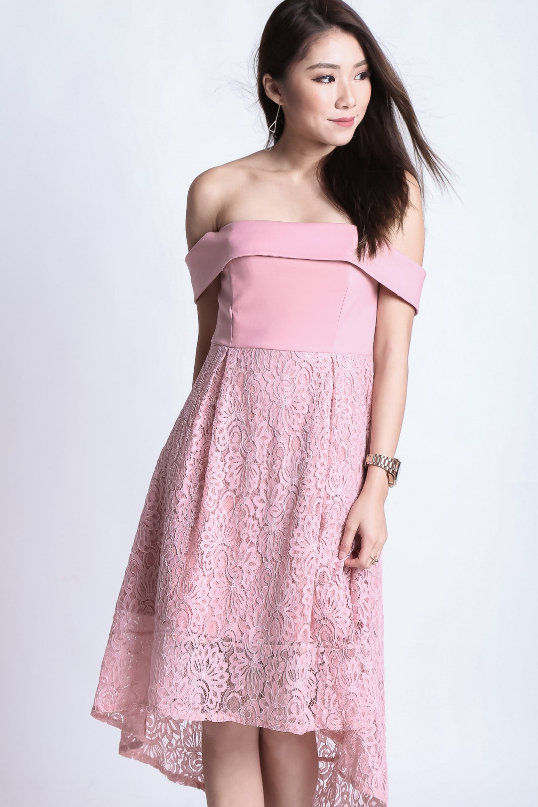 *TOPAZ* (PREMIUM) ALYSSA LACE DRESS IN PINK - TOPAZETTE