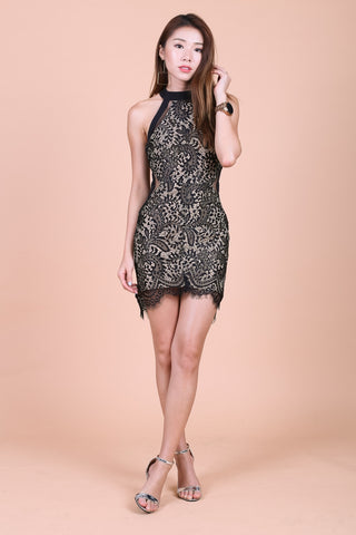 *TOPAZ* (PREMIUM) DATE NIGHT LACE DRESS IN BLACK