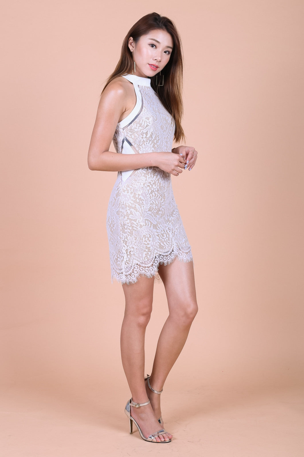 *TOPAZ* (PREMIUM) DATE NIGHT LACE DRESS IN WHITE - TOPAZETTE