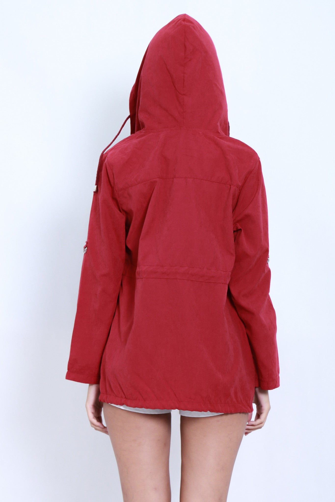 *RESTOCKED* EVERYDAY PARKA WITH HOOD IN BURGUNDY - TOPAZETTE