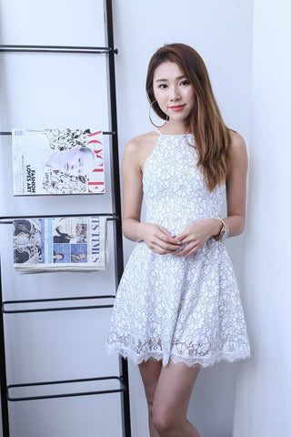 *TOPAZ* (PREMIUM) MAE CROCHET LACE DRESS IN WHITE