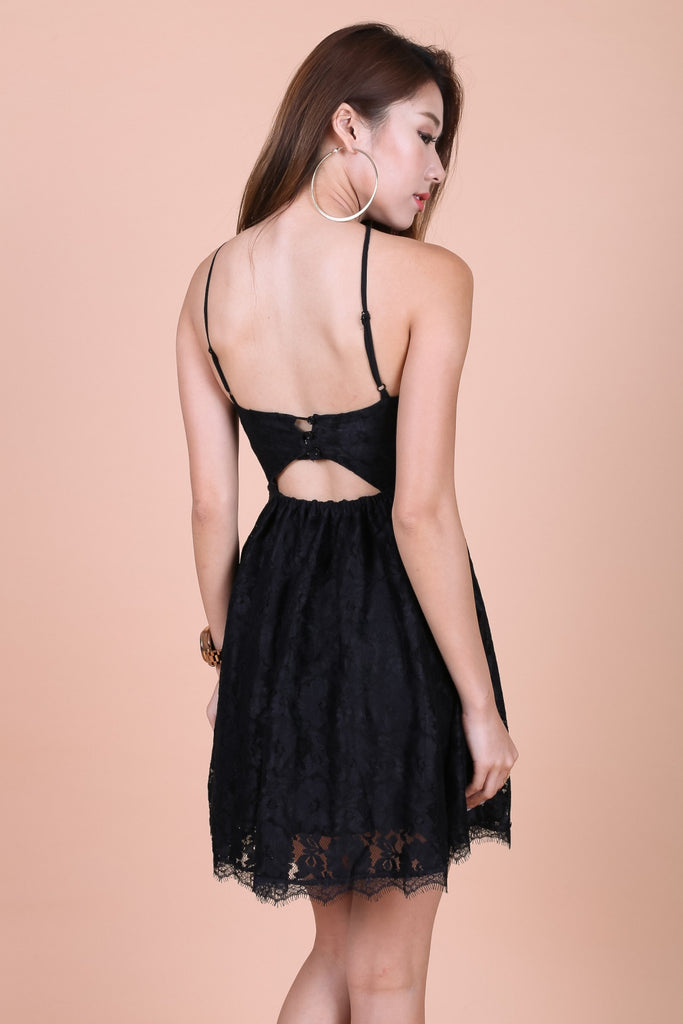 *TOPAZ* (PREMIUM) MAE CROCHET LACE DRESS IN BLACK - TOPAZETTE
