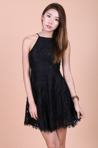 *TOPAZ* (PREMIUM) MAE CROCHET LACE DRESS IN BLACK