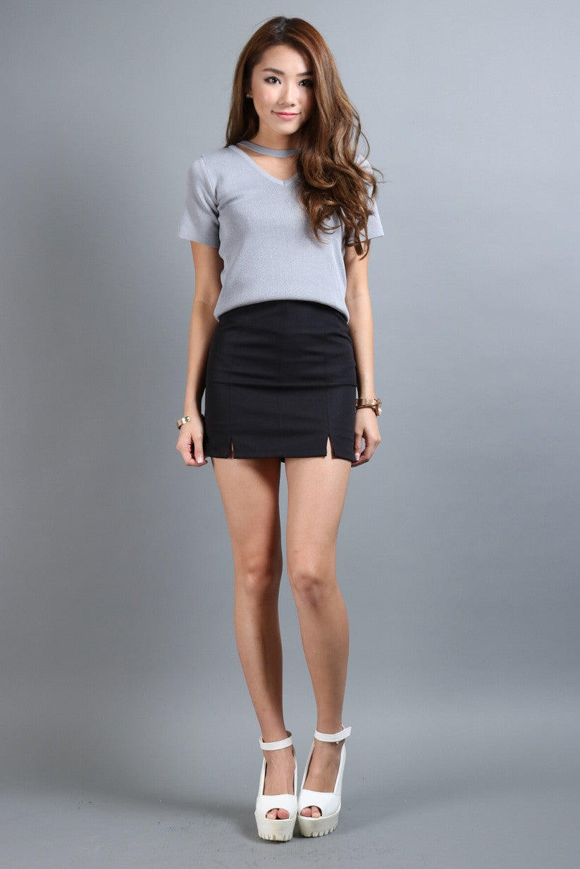 (RESTOCKED 6) STAPLE SKORTS IN BLACK