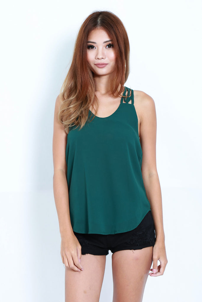 *TOPAZ* ALL IN THE DETAILS TOP IN FOREST - TOPAZETTE