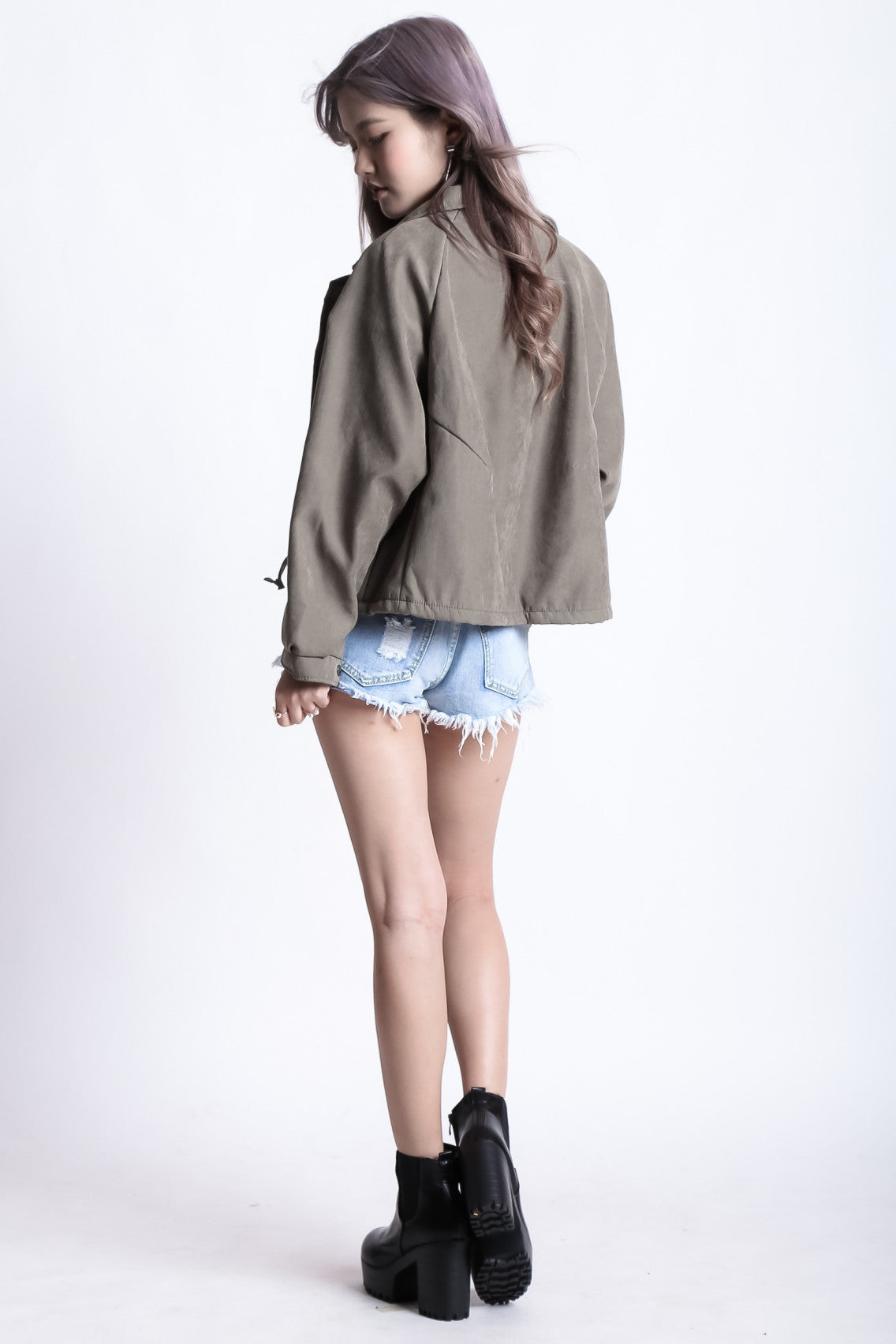 (PREMIUM) ASTOMIC PARKA IN OLIVE - TOPAZETTE