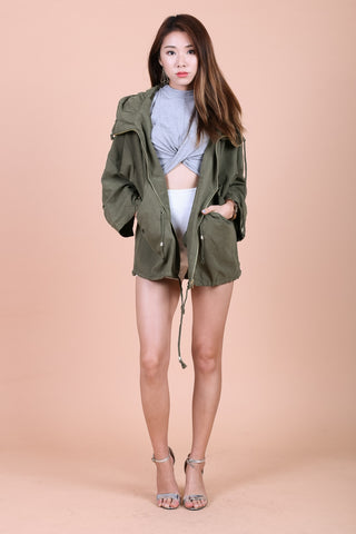 OVERSIZED EVERYDAY PARKA IN OLIVE